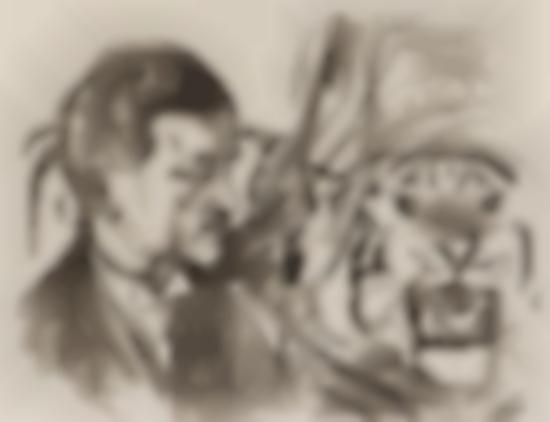 Edvard Munch-Tigertemmeren Sawade / The Tiger Tamer Sawade (Woll no. 597)-1916