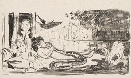 Edvard Munch-Skyen (The Cloud)-1909