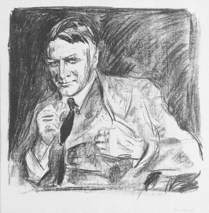 Edvard Munch-Architect Henrik Bull (Arkitekt Henrik Bull)-1928