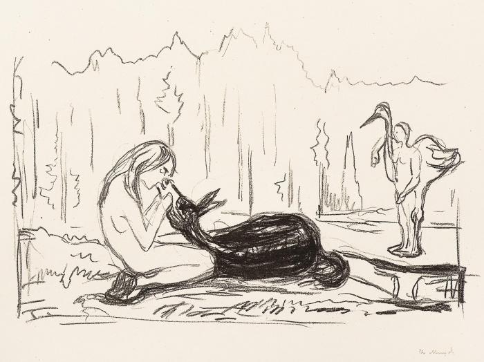 Edvard Munch-Omega and the deer / Omega og daadyret-1909
