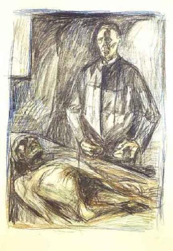 Edvard Munch-Anatomen Schreiner I (The Anatomist Schreiner I)-1929