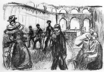 Edvard Munch-Kurhus i Wiesbaden (Sanatorium in Wiesbaden)-1922