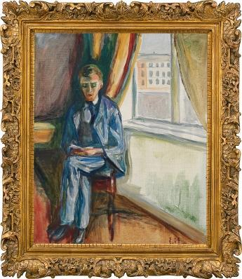 Edvard Munch-Andreas is Reading-