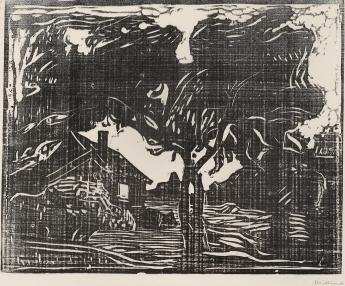 Edvard Munch-Der Apfelbaum / The Apple Tree / Epletreet-1902