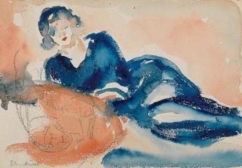 Edvard Munch-Reclining Woman-