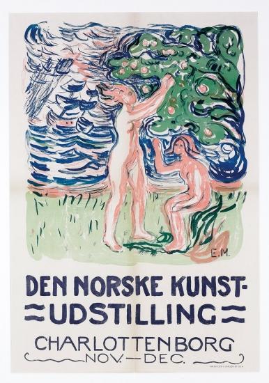 Edvard Munch-Noytralien / Neutralia / Girls picking apples-1915