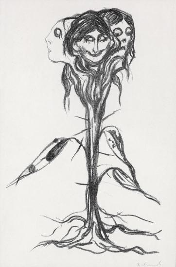 Edvard Munch-Vignett: Amaryllis / Vignette: Amaryllis (W. 339)-1909