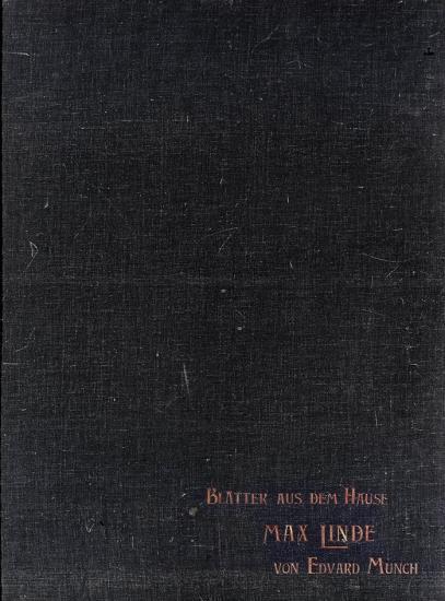 Edvard Munch-Lindemappen fra Max Lindes hus / The Linde Portfolio From Max Linde's House-1902