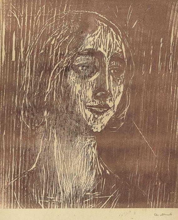 Edvard Munch-Birgitte III The gothic Girl-