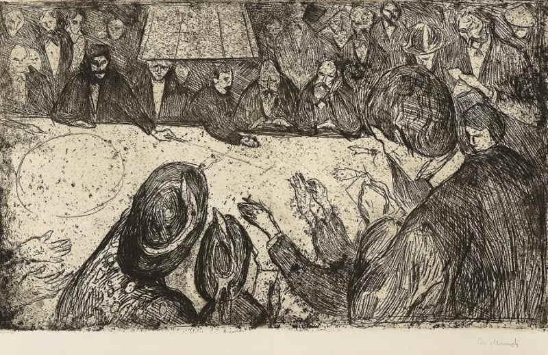 Edvard Munch-The Roulette Table / Ruletten-1903