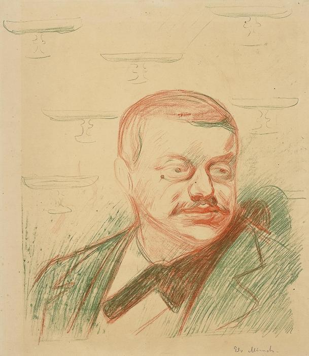 Edvard Munch-Gunnar Heiberg / Portrait of Gunnar Heiberg-