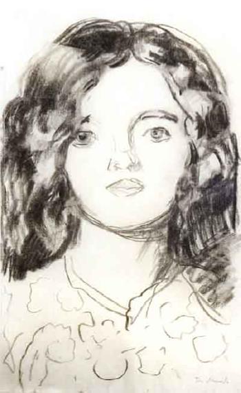 Edvard Munch-Portrett av Modell / Portrait of a Model-1912