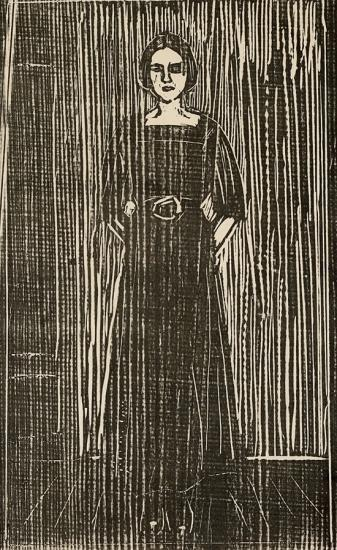 Edvard Munch-Dame i Sort / Dame i Svart / Woman in Black-1913