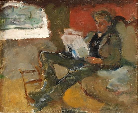 Edvard Munch-Andreas Leser (Adreas Reading)-