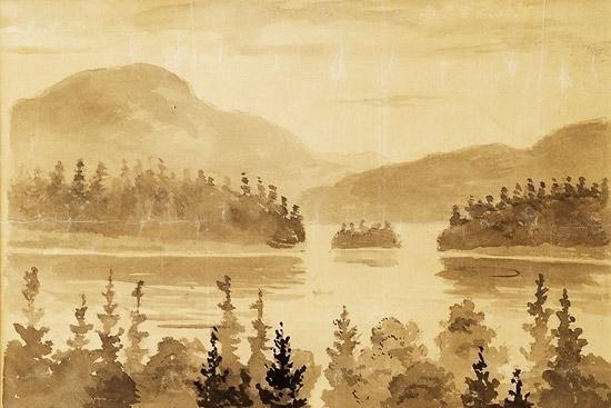Edvard Munch-Fra Nordmarka (Landscape from Nordmarka)-1882