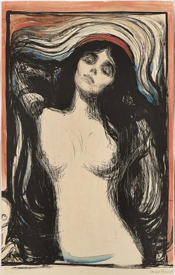 Edvard Munch-Madonna / Liebendes Weib / Loving woman / Woman making love (W. 39; Sch. 33)-1895
