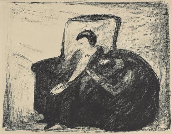 Edvard Munch-Ghosts: Oswald / Gjengangere: Osvald (Woll 651)-1920