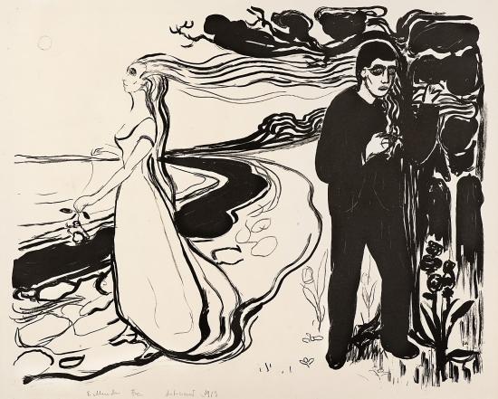 Edvard Munch-Separation I / Loslosung I / Composition (Woll 77)-1896