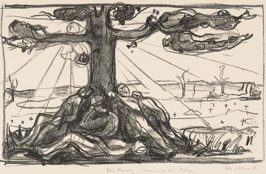 Edvard Munch-Treet I / The Tree I (Woll 585)-