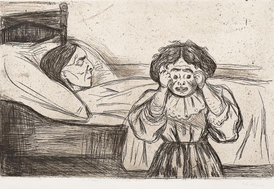 Edvard Munch-Den Dode Mor og Bamet / The Dead Mother and her Child (Woll 163) / Die tote Mutter und das Kind-1901