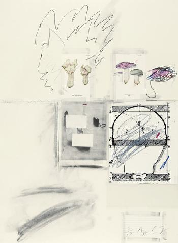 Cy Twombly-Portfolio. Natural History Part I Mushrooms-1974