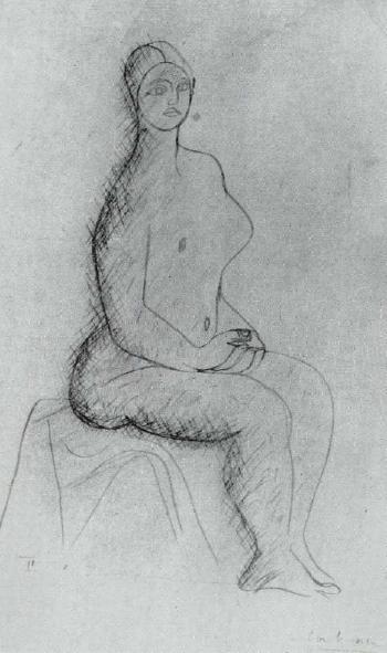 Le Corbusier-Femme assise-