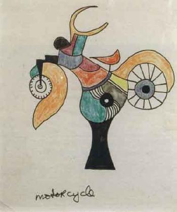 Niki de Saint Phalle-Motorcycle-