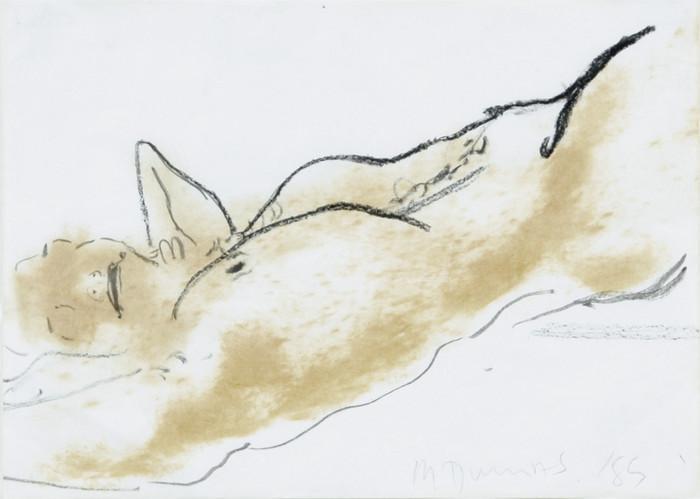 Marlene Dumas-Lying Nude (Liegender Akt)-1989