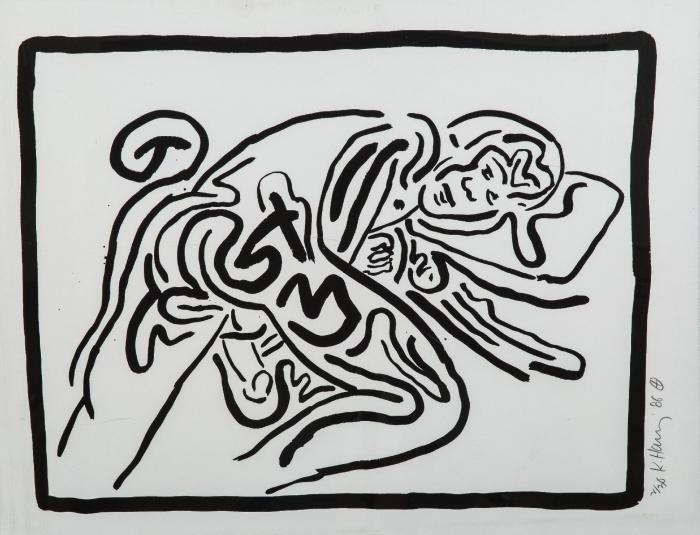 Keith Haring-Keith Haring - Bad Boys-1986