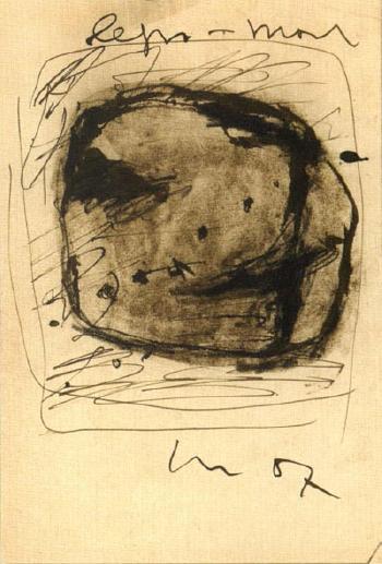 Lucio Fontana-Composition-1957