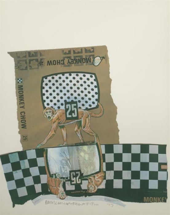 Robert Rauschenberg-Robert Rauschenberg - Monkey Chow (From Chow Series)-1977