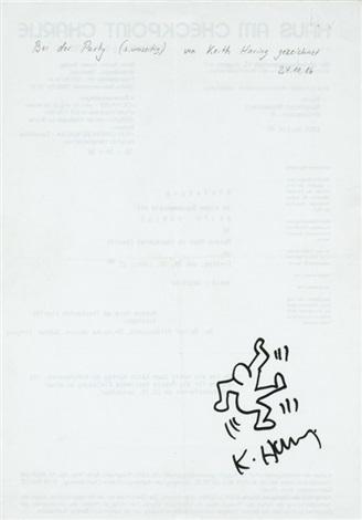 Keith Haring-Keith Haring - Tanzender Mann-1986