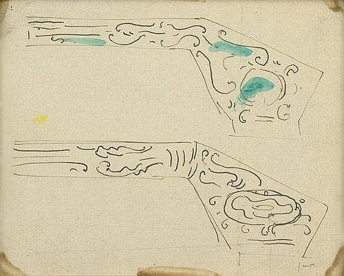 Lucio Fontana-Studi per architettura dinterni-1952