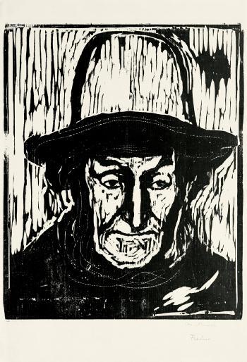 Edvard Munch-Der alte Fischer / Elderly Fisherman-1897