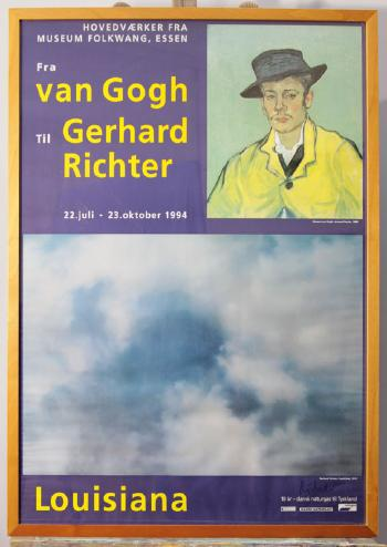 Gerhard Richter-Ausstellungsplakat 'Fra van Gogh Til Gerhard Richter'-1994