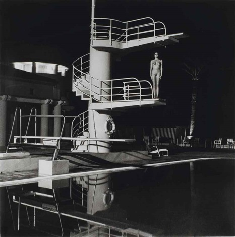 Helmut Newton-Diving Tower, old Beach Hotel Monte Carlo-1981