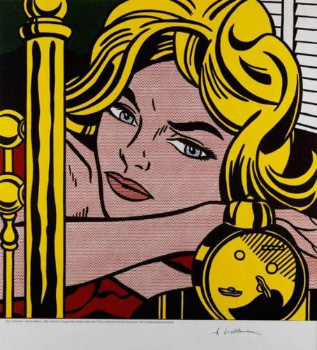 Roy Lichtenstein-Blonde Waiting-