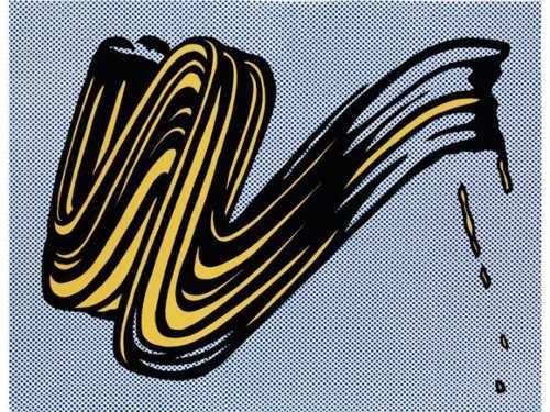 Roy Lichtenstein-Brushstroke-