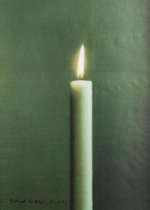 Gerhard Richter-Stilleben mit Kerze-1988