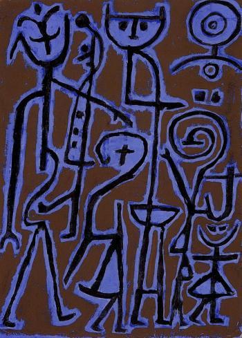 Paul Klee-Masken Im Zwielicht (Masks In Twilight)-1938