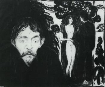Edvard Munch-Eifersucht II (Gross) / Envy II / Jealousy II / Sjalusi II-1896
