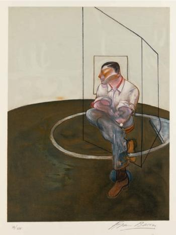 Francis Bacon-Three Studies for a Portrait of John Edwards, Right Panel-1987