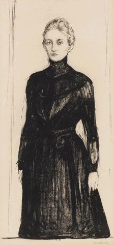 Edvard Munch-Frau Marie Linde (Sch. 192; Woll 224)-1902