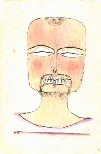Paul Klee-Versunkenheit (Selbstportrait, Bildnis Eines Expressionisten) (Contemplation, Self-Portrait)-1919