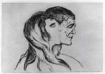 Edvard Munch-Kopf bei Kopf (Head by head)-1905