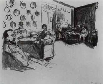 Edvard Munch-Cafe in Wiesbaden (Wiesbade Cafe)-1922
