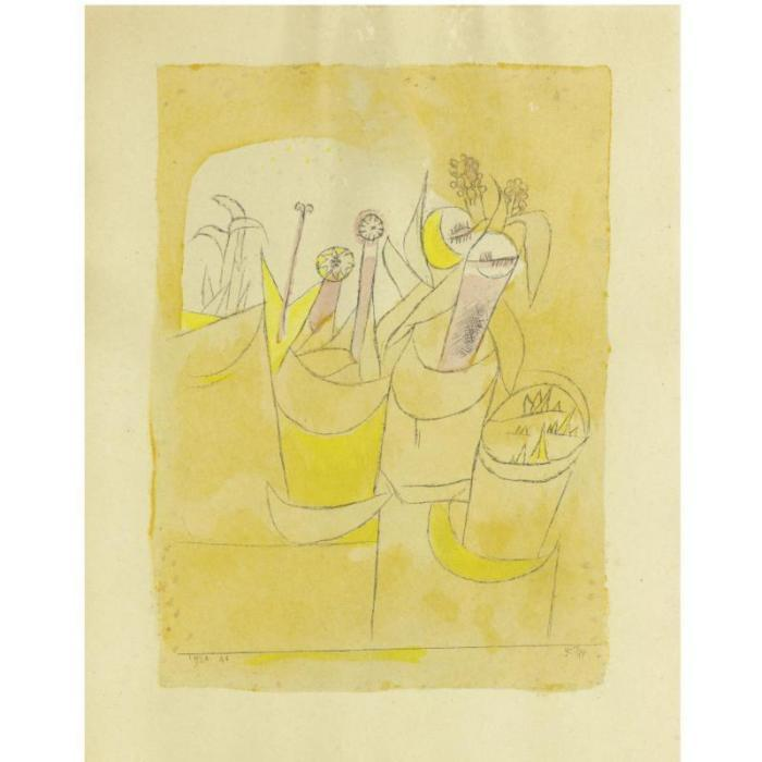 Paul Klee-Blumenstocke I (Potted Plants I)-1920