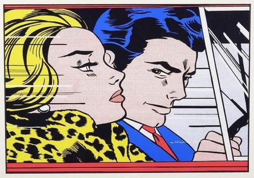 Roy Lichtenstein-In The Car-