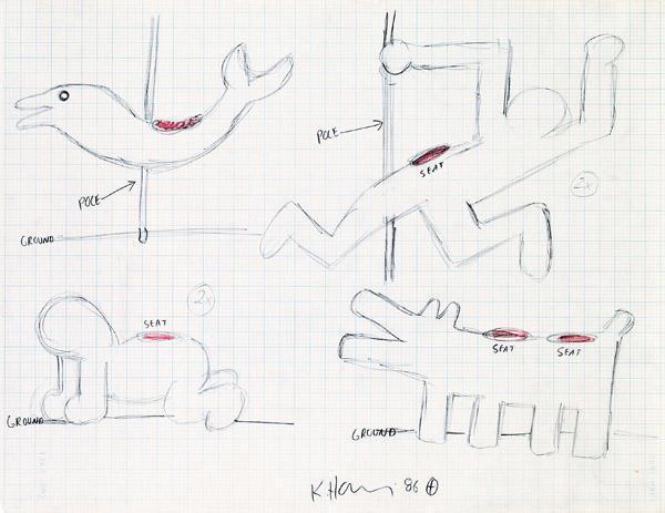 Keith Haring-Keith Haring - Entwurf fur Luna Luna-1986
