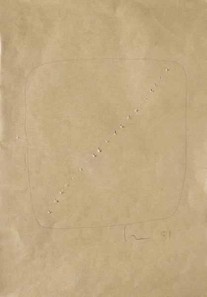 Lucio Fontana-Concetto spaziale-1951